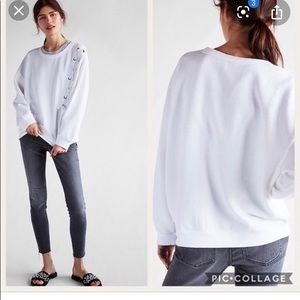 Express White Sweatshirt
